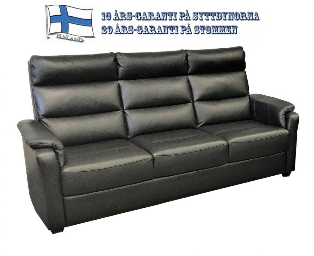 Strålande Atlanta soffa i skinn - Pohjanmaan - Folkets Möbler UG-09