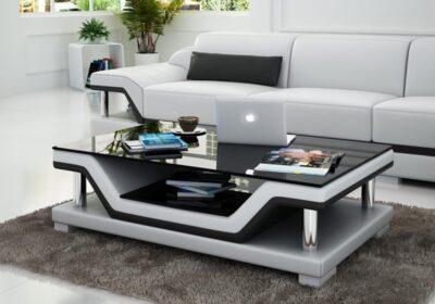 Pernilla soffbord - Vit med svarta detaljer - M&M Collection