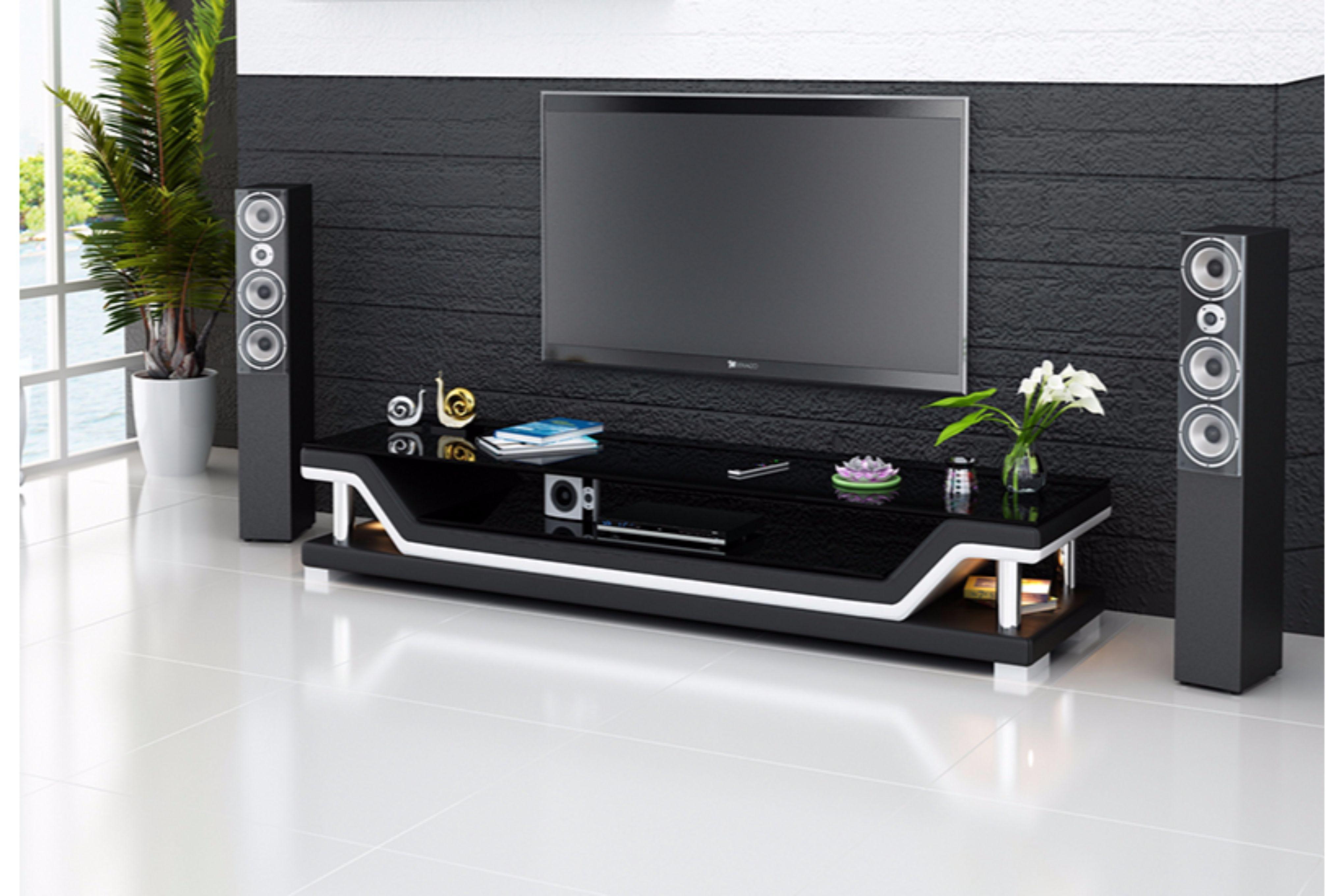 Berömda Pernilla TV-Bänk, svart - Folkets Möbler ZI-65