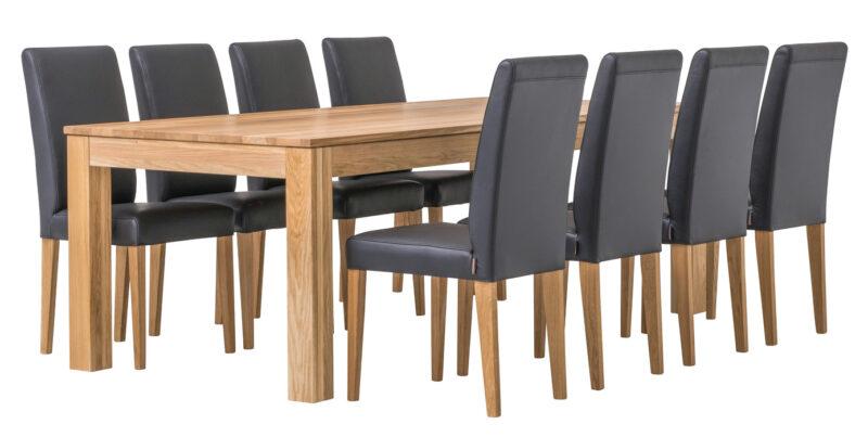 Aurora matbord med 6 Contrast matstolar - Pohjanmaan