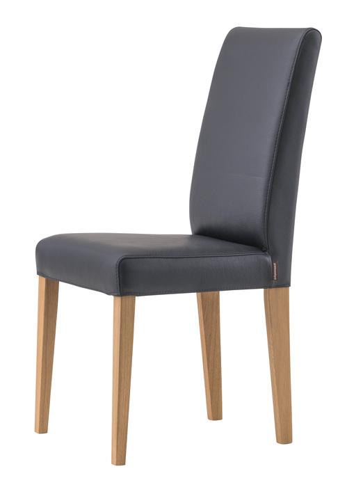 Contrast matstol träfärg ek c42 Labrador läder - Pohjanmaan
