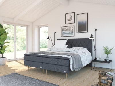 Safir ställbar säng - Antracit - Kinnabädden