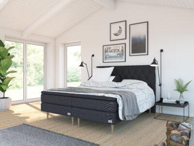 Safir ställbar säng - Svart - Kinnabädden