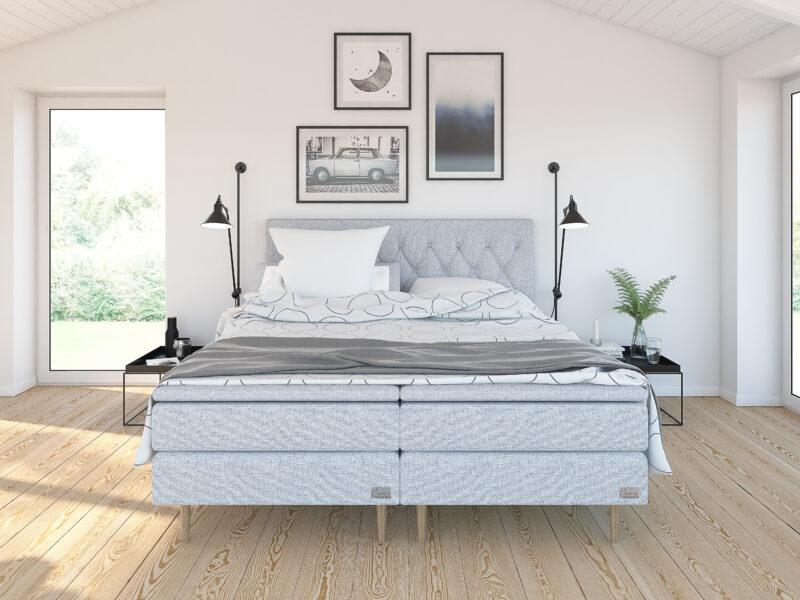 Safir ställbar säng - Ljusgrå - Kinnabädden