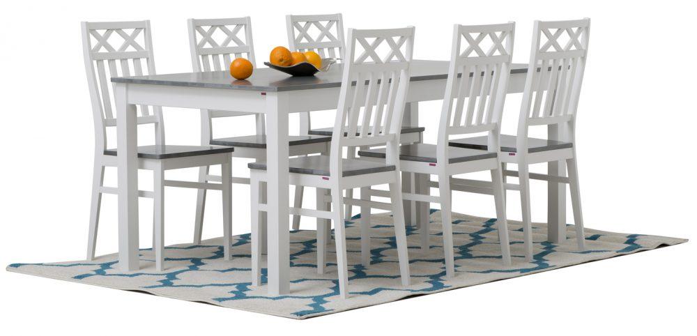 kantri matbord + Kantri stolar Pohjanmaan
