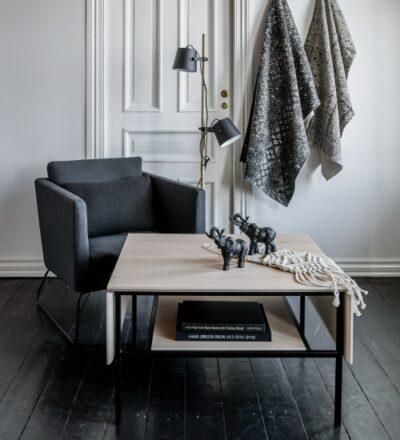 Lugano soffbord med klaffar - Kleppe - Vitfärgad ek