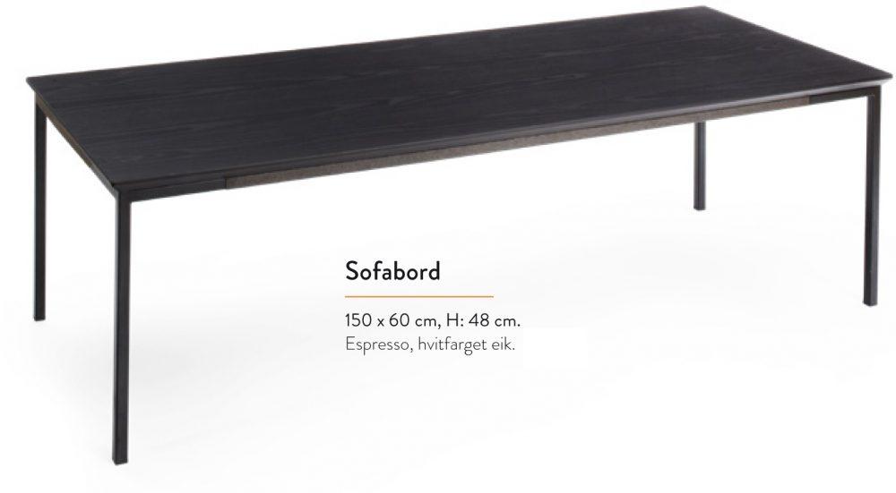 Paris soffbord 150 cm Kleppe