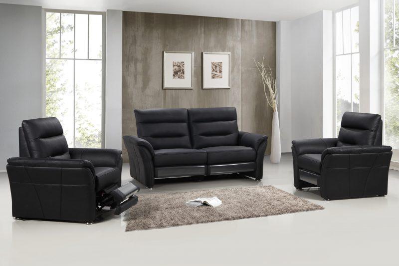 Texas recliner soffa svart