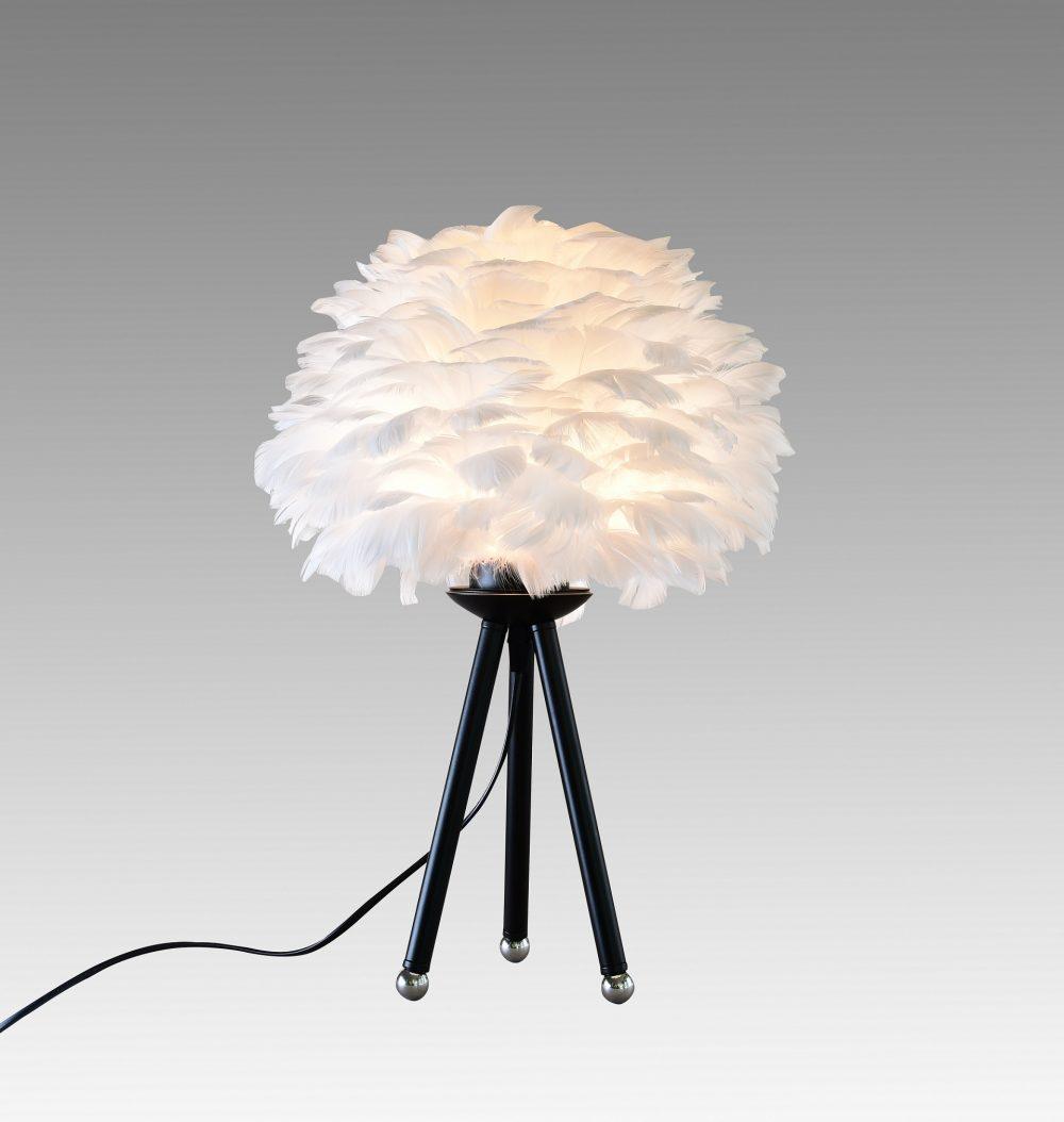 feather fjäderlampa bordslampa