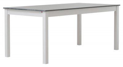 Kantri matbord 175x90 (cm) - Vit med toppskiva i grå massiv björk - Pohjanmaan