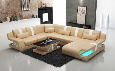 Sorrento designsoffa med LED belysning (2)