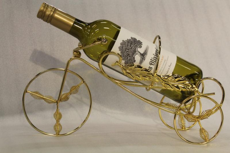 Cykel vinflaskhållare_Guld