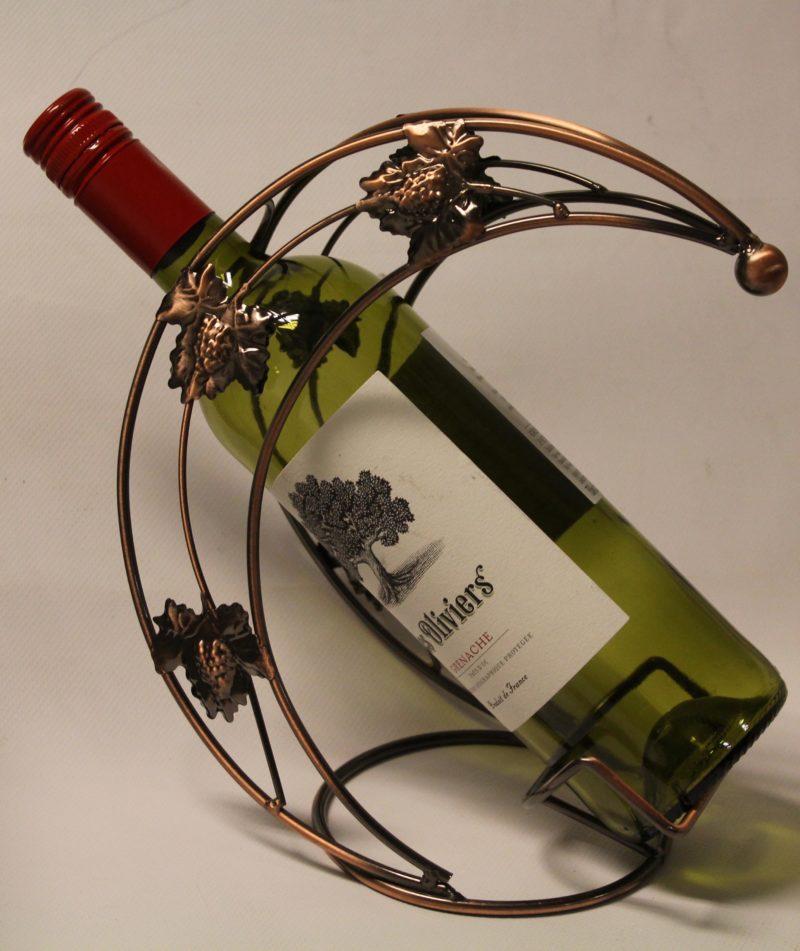 Halvmåne vinflaskhållare