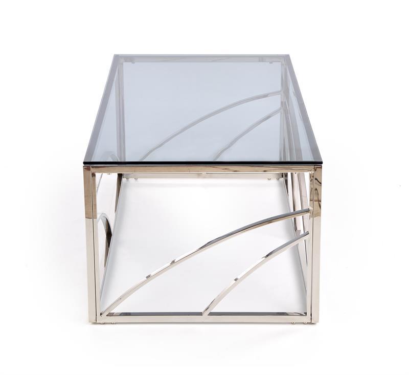 Dublin soffbord rökfärgat glas krom 4