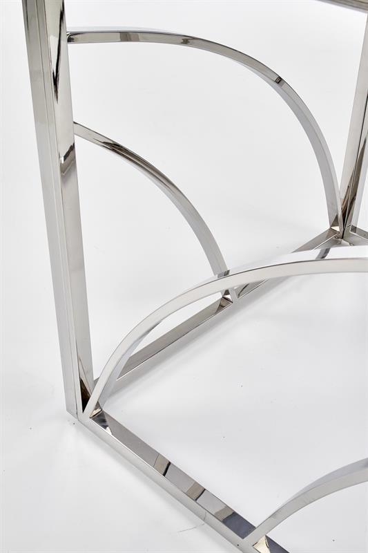 Dublin soffbord rökfärgat glas krom detaljer 2