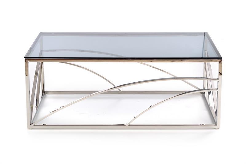 Dublin soffbord rökfärgat glas krom 2