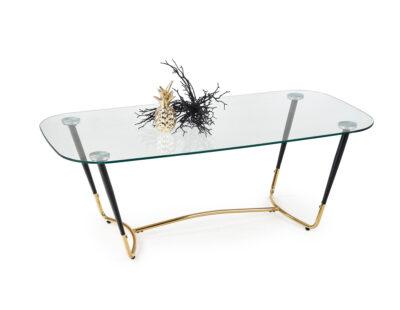 Paris soffbord - Glas soffbord med guld detaljer