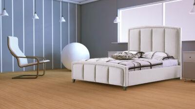 Sofia säng - 180x200 (vit) - Vit läder