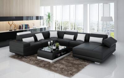 Adria design soffa i äkta läder