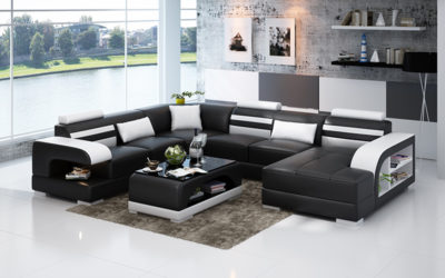Alicia design U- soffa svart_vit (5)