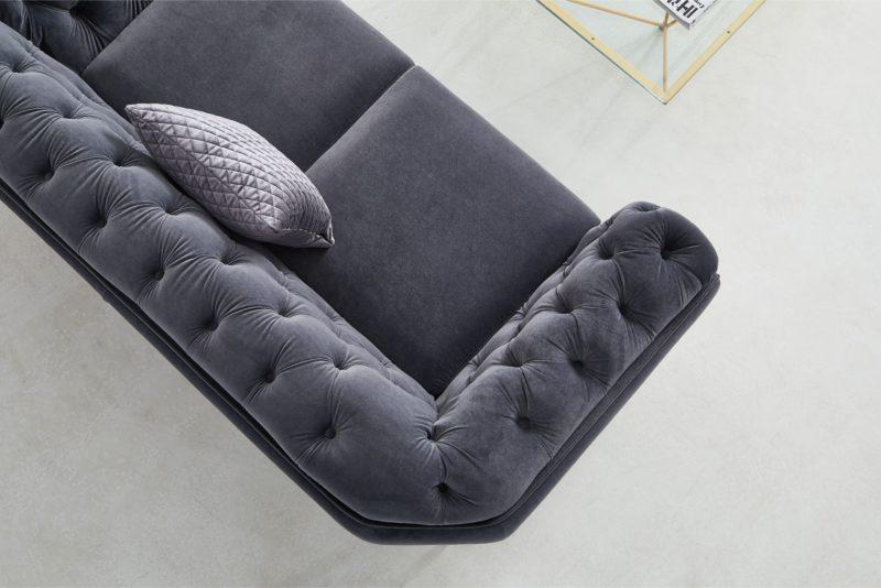 Isabella soffa i sammet - Sammetssoffa