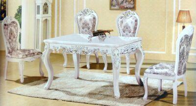 Eva matbord i Rokoko stil med Eva matstolar