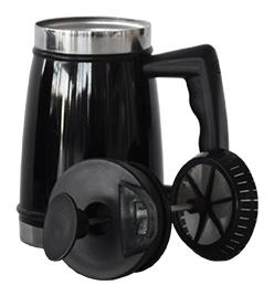 Pressobryggare i rostfritt stål - Kaffebryggare lock