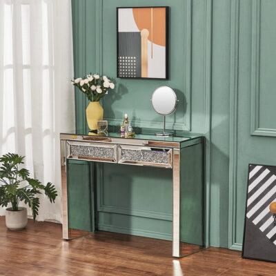 Laila konsolbord och sminkbord i spegel - Spegelbord