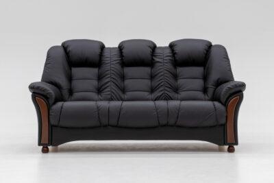 Amiral soffa - Svart skinn - Pohjanmaan