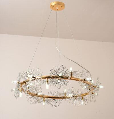 Linda taklampa, guld - Folkets Möbler