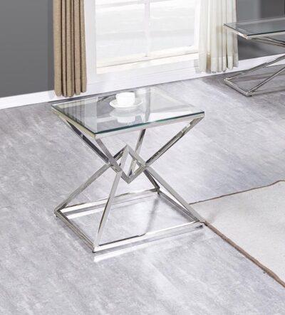 Style sidobord och lampbord i glas - Folkets Möbler