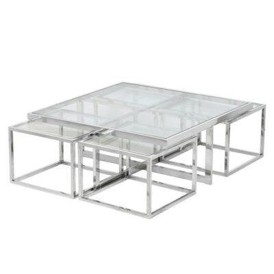 Arlet soffbord med 4 stycken sidobord, satsbord - Folkets Möbler